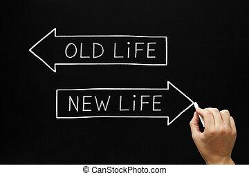 новый, жизнь, старый, или
