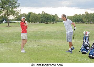 новый, игрок в гольф, поддразнивания