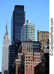 новый, линия горизонта, йорк, город