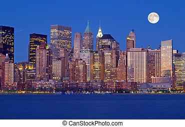 новый, линия горизонта, йорк, th, город