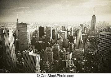 новый, манхеттен, йорк, город