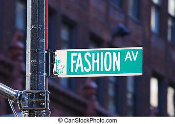 новый, мода, проспект, йорк, город