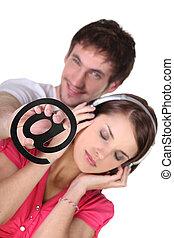 новый, пара, enjoying, технологии