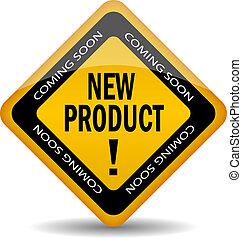 новый, продукт, вектор, значок