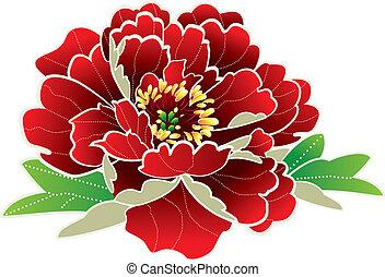 новый, цветок, китайский, год