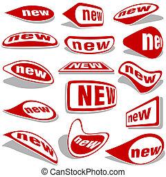новый, labels