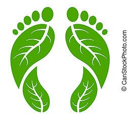 ноги, зеленый