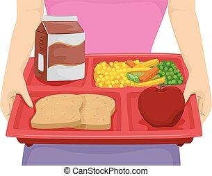 обед, лоток, диета