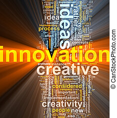 облако, инновация, слово, пылающий