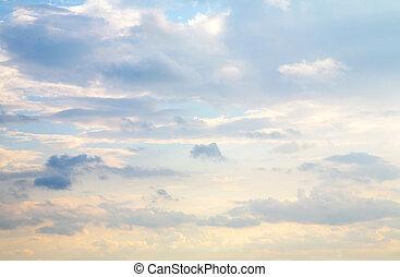 облако, небо