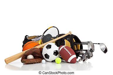 оборудование, белый, виды спорта, задний план, assorted