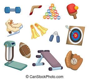 оборудование, виды спорта, мультфильм, icons