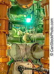 оборудование, внутри, cables, трубопровод, промышленные, мощность, найденный, растение