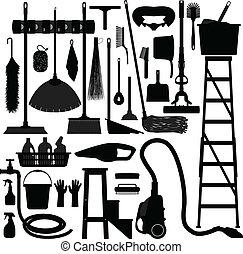 оборудование, домашнее хозяйство, внутренний, инструмент