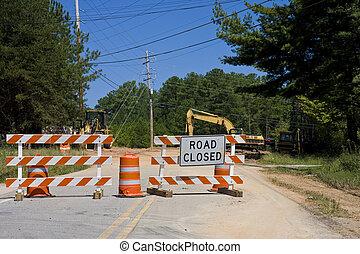 оборудование, дорога, закрыто