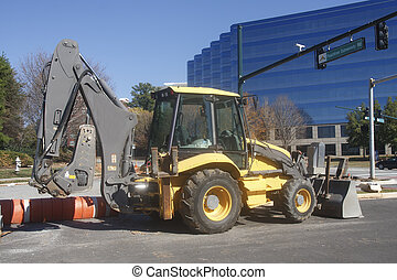 оборудование, строительство, улица, город