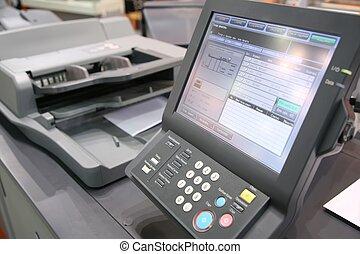 оборудование, экран, printed