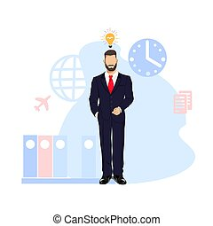 обработать, бизнес, бизнесмен