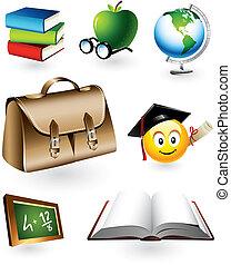 образовательных, вектор, elements