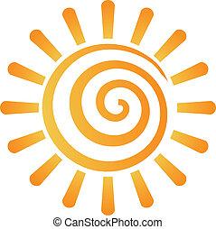 образ, абстрактные, спираль, солнце, логотип