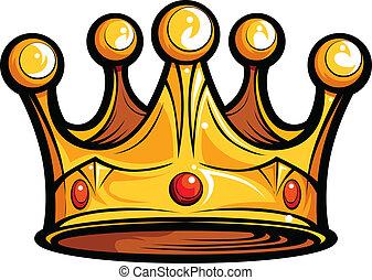образ, или, роялти, вектор, kings, мультфильм, корона
