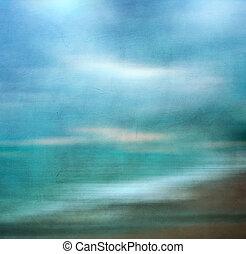 образ, beach., ретро, сэнди