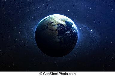 образ, nasa., elements, space., это, меблированный, земля