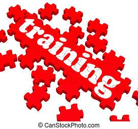 обучение, головоломка, показ, coaching, бизнес