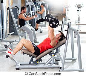 обучение, группа, вес, гимнастический зал, оборудование, спорт