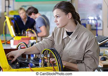 обучение, люди, технический, молодой, профессиональное, учитель