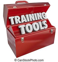 обучение, успех, навыки, learning, новый, ящик для инструментов, инструменты, красный