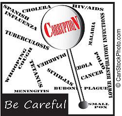 объектив, опасно, -, болезнь, коррупция