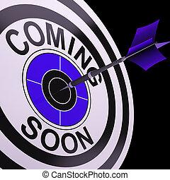 объявление, мишень, кампания, скоро, приход, shows