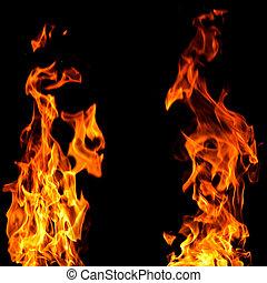 огонь, задний план