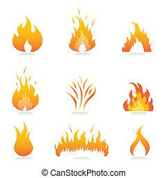 огонь, flames, знаки
