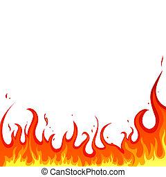 огонь, -, flames