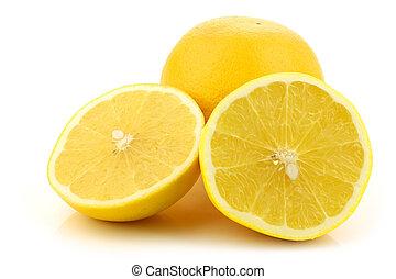 один, грейпфрут, порез, желтый