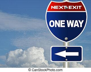 один, путь, дорога, знак