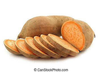 один, сладкая картошка, порез