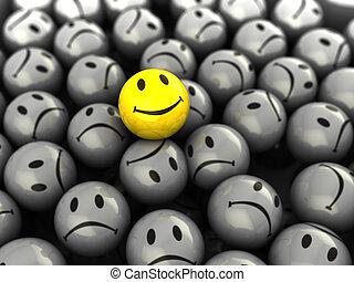 один, счастливый, лицо