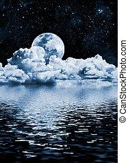 озеро, луна
