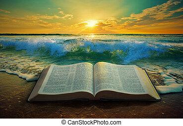 океан, восход, библия