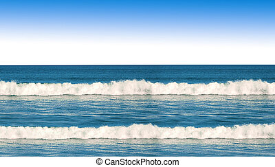 океан, waves, синий