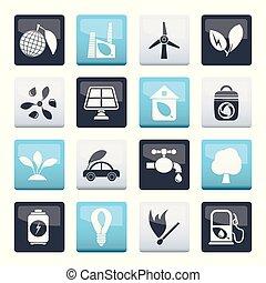 окружающая среда, над, icons, экология, цвет, задний план, зеленый