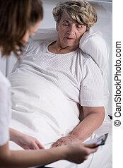 онкология, подопечный, пациент, старшая