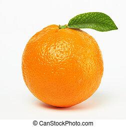 оранжевый, лист