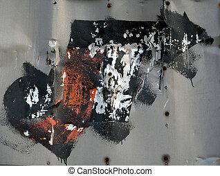 оранжевый, черный, граффити