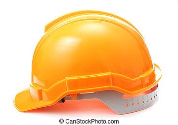 оранжевый, шапка, безопасность