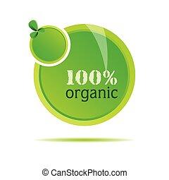 органический, вектор, зеленый, иллюстрация, природа