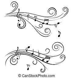 орнаментальный, notes, музыка